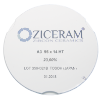 Диоксид циркония Ziceram Ø95 High Translucent 22