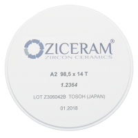 Диоксид циркония Ziceram Ø98 High Translucent 10